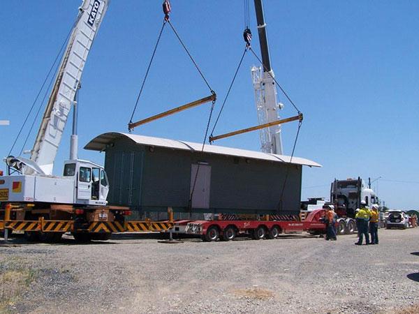 Scope Cranes & Logistics 8-container loading-Brisbane