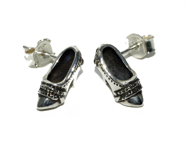 For those who love their shoes, studs in silver by Robyn Wernicke.