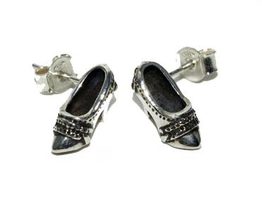 Sterling silver shoe studs by Robyn Wernicke.