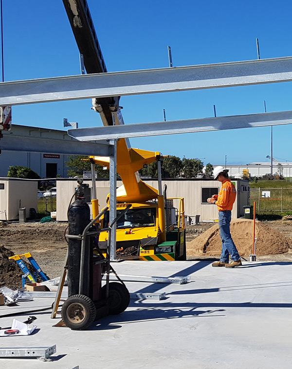 franna crane origin energy lifting steel beams
