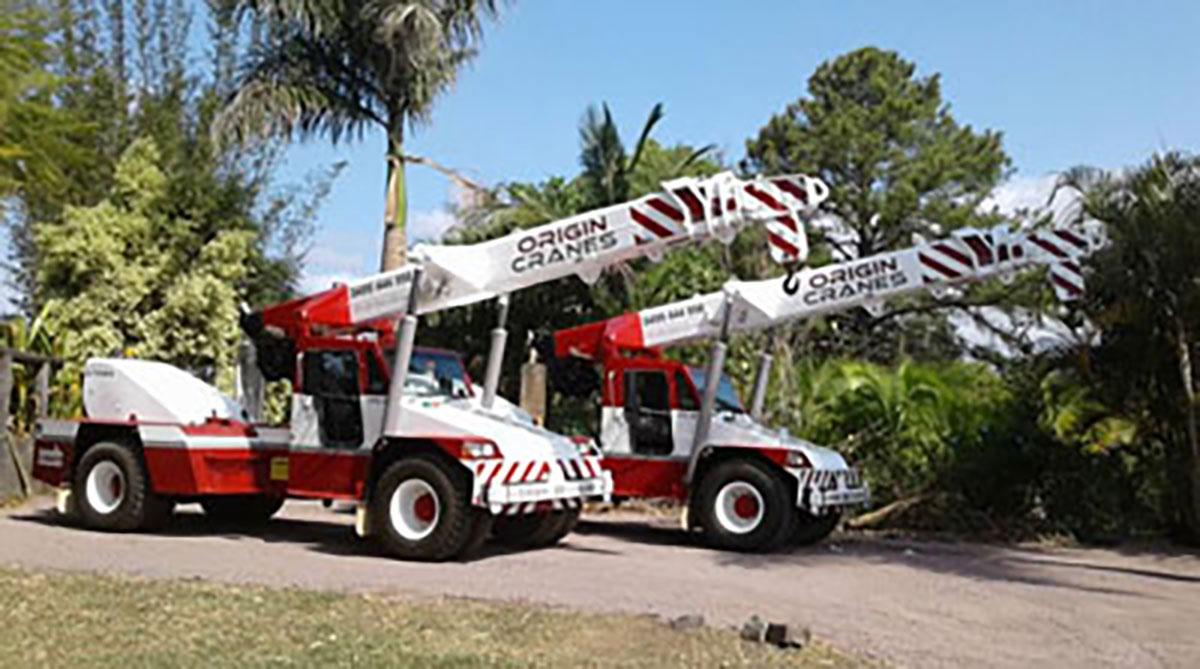 20T Franna crane for hire Sunshine Coast