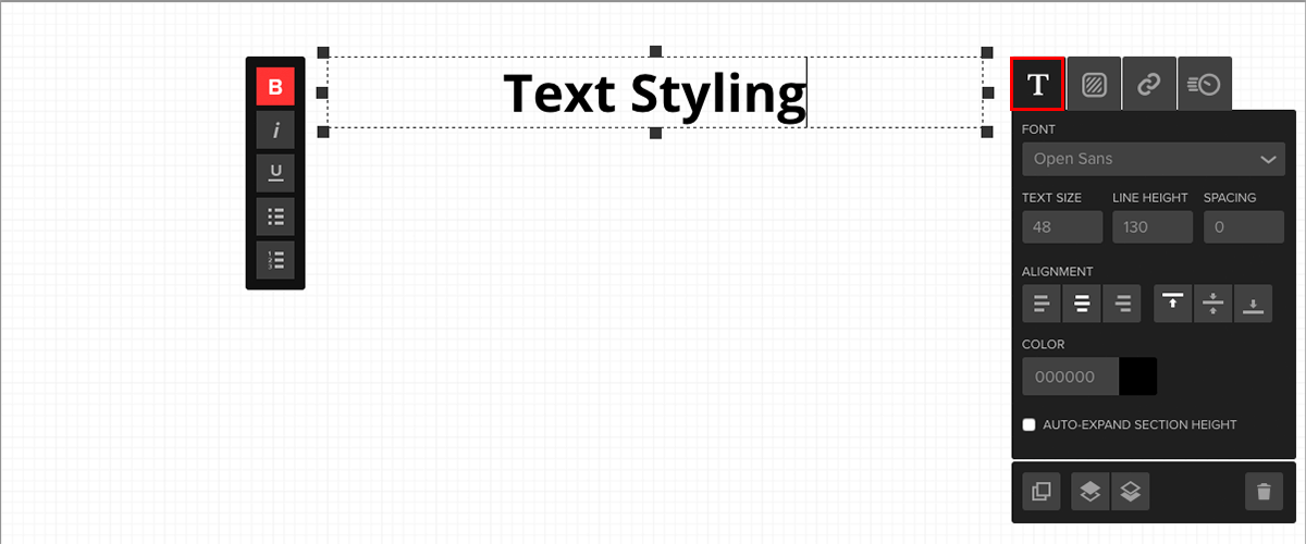 text styling-uxw