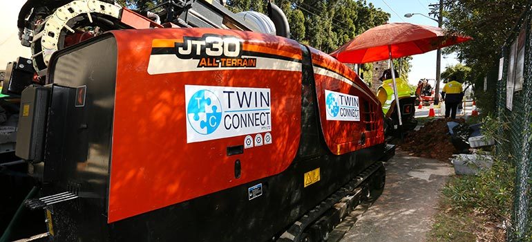Twin Connect Trenchless Underground Boring