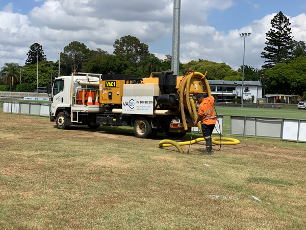 Vacuum Excavation Hire on Sports Field
