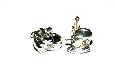 Winston Churchhill cufflinks by Robyn Wernicke.