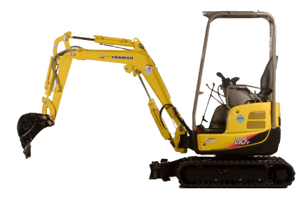 1.7 tonne Mini excavator Hire Maryborough